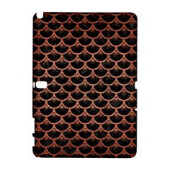 Scales3 Black Marble & Copper Brushed Metal Samsung Galaxy Note 10 1 (p600) Hardshell Case by trendistuff