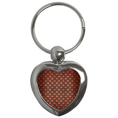 Scales2 Black Marble & Copper Brushed Metal (r) Key Chain (heart) by trendistuff
