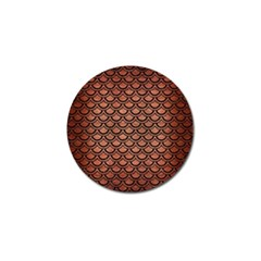 Scales2 Black Marble & Copper Brushed Metal (r) Golf Ball Marker