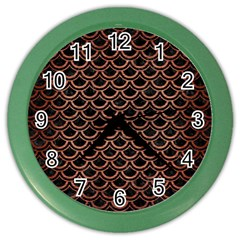 Scales2 Black Marble & Copper Brushed Metal Color Wall Clock by trendistuff