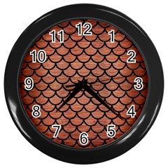 Scales1 Black Marble & Copper Brushed Metal (r) Wall Clock (black) by trendistuff