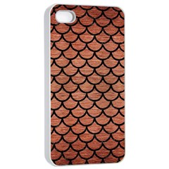 Scales1 Black Marble & Copper Brushed Metal (r) Apple Iphone 4/4s Seamless Case (white) by trendistuff
