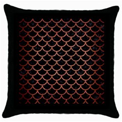 Scales1 Black Marble & Copper Brushed Metal Throw Pillow Case (black)