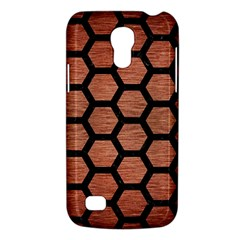 Hexagon2 Black Marble & Copper Brushed Metal (r) Samsung Galaxy S4 Mini (gt I9190) Hardshell Case  by trendistuff