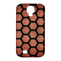 Hexagon2 Black Marble & Copper Brushed Metal (r) Samsung Galaxy S4 Classic Hardshell Case (pc+silicone) by trendistuff