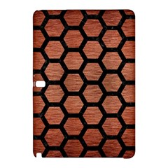 Hexagon2 Black Marble & Copper Brushed Metal (r) Samsung Galaxy Tab Pro 10 1 Hardshell Case by trendistuff