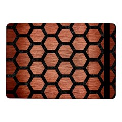 Hexagon2 Black Marble & Copper Brushed Metal (r) Samsung Galaxy Tab Pro 10 1  Flip Case by trendistuff