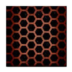 Hexagon2 Black Marble & Copper Brushed Metal Tile Coaster by trendistuff