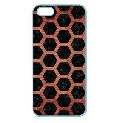 Hexagon2 Black Marble & Copper Brushed Metal Apple Seamless Iphone 5 Case (color) by trendistuff