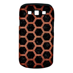 Hexagon2 Black Marble & Copper Brushed Metal Samsung Galaxy S Iii Classic Hardshell Case (pc+silicone) by trendistuff