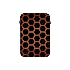 Hexagon2 Black Marble & Copper Brushed Metal Apple Ipad Mini Protective Soft Case by trendistuff