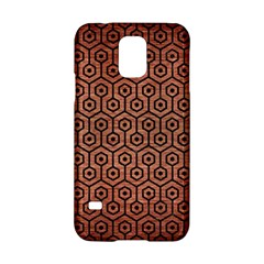 Hexagon1 Black Marble & Copper Brushed Metal (r) Samsung Galaxy S5 Hardshell Case  by trendistuff
