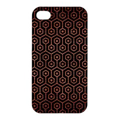 Hexagon1 Black Marble & Copper Brushed Metal Apple Iphone 4/4s Hardshell Case by trendistuff