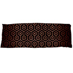 Hexagon1 Black Marble & Copper Brushed Metal Body Pillow Case (dakimakura) by trendistuff