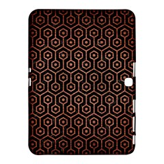 Hexagon1 Black Marble & Copper Brushed Metal Samsung Galaxy Tab 4 (10 1 ) Hardshell Case