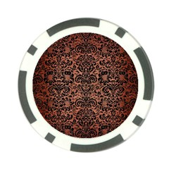 Damask2 Black Marble & Copper Brushed Metal (r) Poker Chip Card Guard (10 Pack) by trendistuff