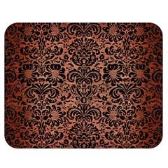 Damask2 Black Marble & Copper Brushed Metal (r) Double Sided Flano Blanket (medium) by trendistuff