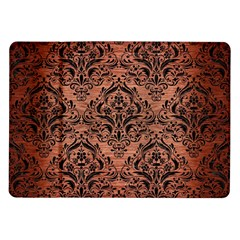 Damask1 Black Marble & Copper Brushed Metal (r) Samsung Galaxy Tab 10 1  P7500 Flip Case by trendistuff