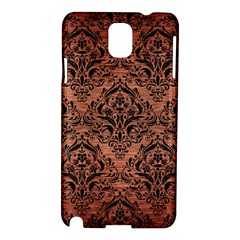 Damask1 Black Marble & Copper Brushed Metal (r) Samsung Galaxy Note 3 N9005 Hardshell Case by trendistuff