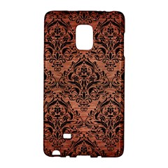 Damask1 Black Marble & Copper Brushed Metal (r) Samsung Galaxy Note Edge Hardshell Case by trendistuff