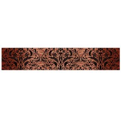 Damask1 Black Marble & Copper Brushed Metal (r) Flano Scarf (large) by trendistuff