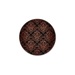 Damask1 Black Marble & Copper Brushed Metal Golf Ball Marker (4 Pack) by trendistuff