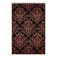 Damask1 Black Marble & Copper Brushed Metal Shower Curtain 48  X 72  (small)