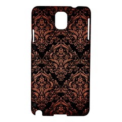 Damask1 Black Marble & Copper Brushed Metal Samsung Galaxy Note 3 N9005 Hardshell Case by trendistuff