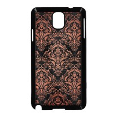 Damask1 Black Marble & Copper Brushed Metal Samsung Galaxy Note 3 Neo Hardshell Case (black) by trendistuff