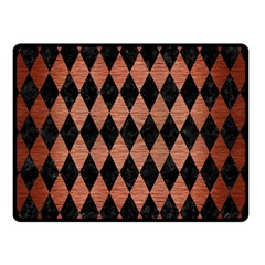 Diamond1 Black Marble & Copper Brushed Metal Double Sided Fleece Blanket (small)