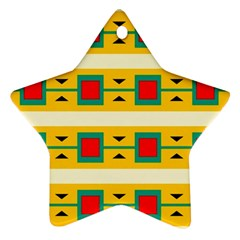 Connected Squares And Triangles 			ornament (star)