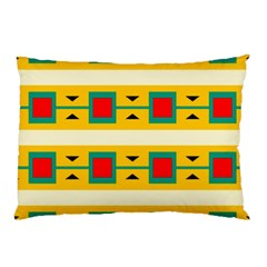 Connected Squares And Triangles 			pillow Case by LalyLauraFLM