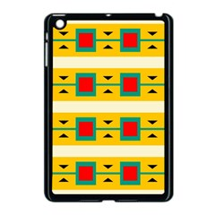 Connected Squares And Triangles 			apple Ipad Mini Case (black) by LalyLauraFLM