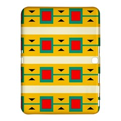 Connected Squares And Triangles 			samsung Galaxy Tab 4 (10 1 ) Hardshell Case by LalyLauraFLM