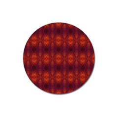 Brown Diamonds Pattern Magnet 3  (round) by Costasonlineshop