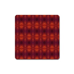 Brown Diamonds Pattern Square Magnet by Costasonlineshop