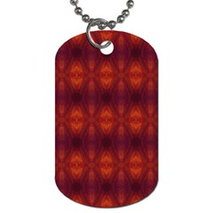 Brown Diamonds Pattern Dog Tag (two Sides)