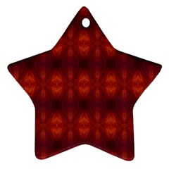 Brown Diamonds Pattern Star Ornament (two Sides)  by Costasonlineshop