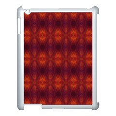 Brown Diamonds Pattern Apple Ipad 3/4 Case (white) by Costasonlineshop
