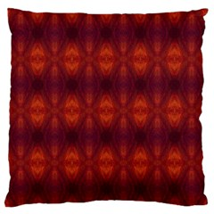 Brown Diamonds Pattern Large Flano Cushion Cases (one Side)