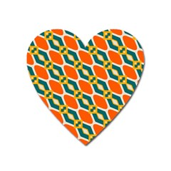 Chains And Squares Pattern 			magnet (heart) by LalyLauraFLM