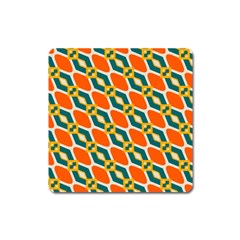 Chains And Squares Pattern 			magnet (square) by LalyLauraFLM