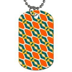 Chains And Squares Pattern 			dog Tag (one Side) by LalyLauraFLM
