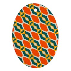 Chains And Squares Pattern 			ornament (oval)