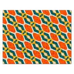 Chains And Squares Pattern 			jigsaw Puzzle (rectangular) by LalyLauraFLM