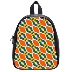 Chains And Squares Pattern 			school Bag (small) by LalyLauraFLM