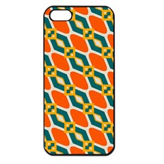 Chains And Squares Pattern 			apple Iphone 5 Seamless Case (black) by LalyLauraFLM