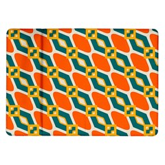 Chains And Squares Pattern 			samsung Galaxy Tab 10 1  P7500 Flip Case by LalyLauraFLM