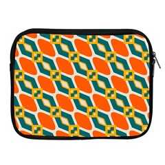 Chains And Squares Pattern 			apple Ipad 2/3/4 Zipper Case by LalyLauraFLM