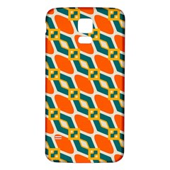 Chains And Squares Pattern 			samsung Galaxy S5 Back Case (white) by LalyLauraFLM